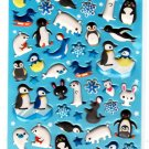 Q-Lia Japan Arctic Friends Puffy Sticker Sheet Kawaii