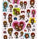 Kamio Japan Happy Girls Sticker Sheet Kawaii