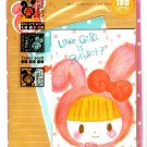 Crux Japan Love Girl is Rabbit Letter Set with Stickers Kawaii