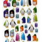 Iwako Penguin Erasers Gel Sticker Sheet Kawaii