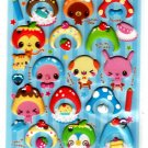 Crux Japan Sweet Animals Puffy Sticker Sheet Kawaii