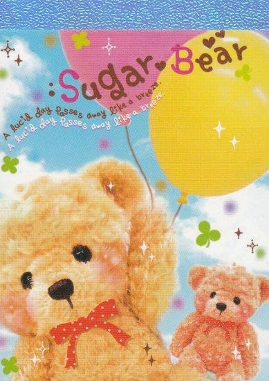 Q-Lia Japan Sugar Bear Mini Memo Pad (D) Kawaii