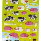 Kamio Japan Farm Animals Epoxy Sticker Sheet Kawaii