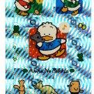 Sanrio Japan Ahiru No Pekkle Holo Sticker Sheet 1995 Kawaii
