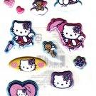 Sanrio Japan Hello Kitty Angel Puffy Sticker Sheet 2005 Kawaii