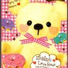 Crux Japan English Love Bear Mini Memo Pad Kawaii