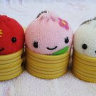 Eikoh Japan Steamed Buns Plush Keychain Set of 3 Kawaii