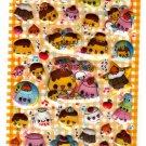 Kamio Japan Pudding Chan Puffy Sticker Sheet (A) Kawaii
