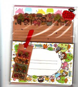 Crux Japan Sun Sun Sunday Letter Set with Stickers Kawaii