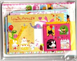 Q-Lia Japan Warm Family Letter Set Kawaii