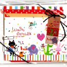 Q-Lia Japan Warm Family Letter Set with Stickers (A) Kawaii