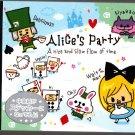 Kamio Japan Alice's Party Mini Memo Pad with Sticker Kawaii