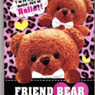 Kamio Japan Friend Bear Memo Pad Kawaii