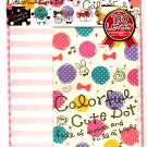 Crux Japan Colorful Cute Dot Letter Set with Stickers Kawaii