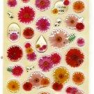 Mind Wave Japan Flowers Epoxy Sticker Sheet Kawaii