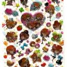 Crux Japan Peach Mix Epoxy Sticker Sheet Kawaii