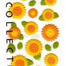 Midori Japan Sunflower Felt Sticker Sheet Kawaii