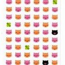 Mind Wave Japan Pig Faces Sticker Sheet Kawaii