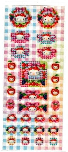 Sanrio Japan Hello Kitty Fruits Sticker Sheet 2001 Kawaii