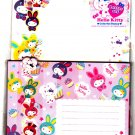 Sanrio Japan Hello Kitty Colorful Bunny Letter Set with Stickers by Sun Star (D) 2010 Kawaii