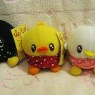 Japan Piyo Ducky Plush Keychain Strap Set of 3 New with Tag Kawaii