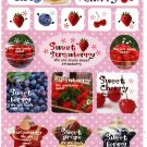 Wizard Japan Sweet Fruits Sticker Sheet from Memo Pad Kawaii