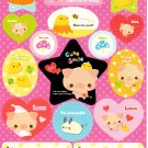 Crux Japan Cute Smile Sticker Sheet from Memo Pad Kawaii