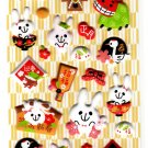 Sakura Japan Year of the Rabbit Puffy Sticker Sheet Kawaii