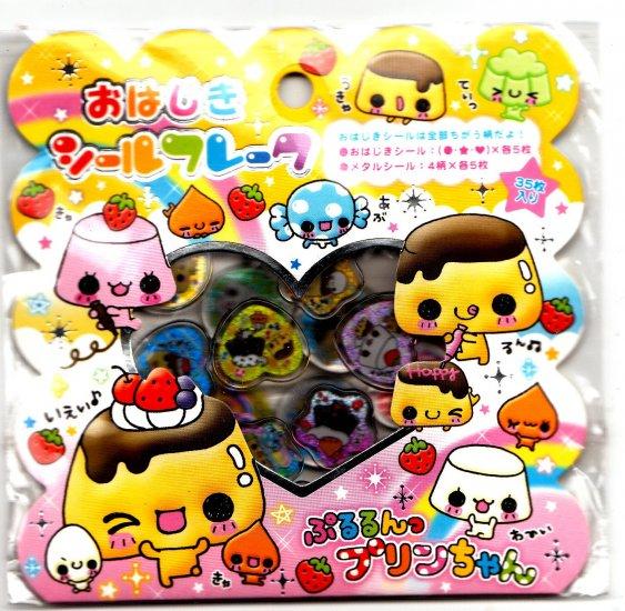 Kamio Japan Pudding Chan Jewel Sticker Sack Kawaii