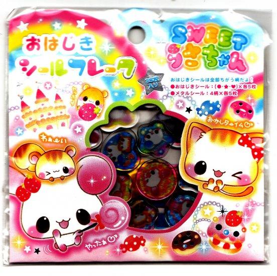 Kamio Japan Sweet Animals Jewel Sticker Sack Kawaii
