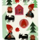 Shinzi Katoh Japan Little Red Riding Hood Epoxy Sticker Sheet Kawaii