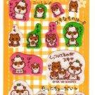 Sanrio Japan Coro Coro Kuririn Hamster Fuzzy Sticker Sheet 1999 Kawaii
