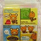 Sanrio Japan Tenorikuma Block Erasers Set of 4 2006 Kawaii