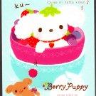 San-X Japan Berry Puppy Mini Memo Pad (B) 2009 Kawaii