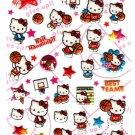 Sanrio Japan Hello Kitty Basketball Puffy Sticker Sheet 2009 Kawaii