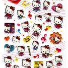 Sanrio Japan Hello Kitty Brass Band Puffy Sticker Sheet 2009 Kawaii