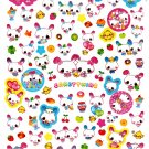 Q-Lia Japan Candy Twins Sticker Sheet from Letter Set Kawaii