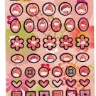 Sanrio Japan Hello Kitty Japanese Doll Sticker Sheet (B) 2007 Kawaii