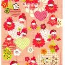 Sanrio Japan Hello Kitty Japanese Doll Washi Paper Sticker Sheet (B) 2007 Kawaii