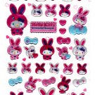 Sanrio Japan Hello Kitty Colorful Bunny Epoxy Sticker Sheet by Sun-Star (B) 2010 Kawaii