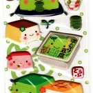 Q-Lia Japan Hannari Tofu Puffy Sticker Sheet (C) Kawaii