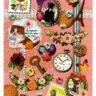 Mind Wave Japan Memory Seal Satin Sticker Sheet Kawaii