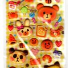 Q-Lia Japan Kongari Cafe Marshmallow Puffy Sticker Sheet Kawaii