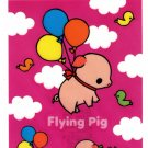 Kamio Japan Flying Pig Big Sticker Kawaii