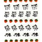 Kamio Japan Animal Collection Pandas Puffy Sticker Sheet Kawaii