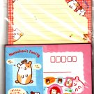 San-X Japan Hamuchan's Family Hamster Letter Set with Stickers 1997 Kawaii