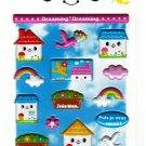 Mind Wave Japan Dreaming Dreaming Puffy Sticker Sheet Kawaii