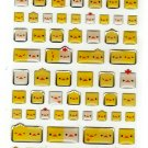 Kamio Japan Animal Cube Epoxy Sticker Sheet Kawaii