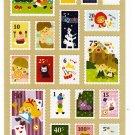 Phoenix Japan Fairy Tale World Stamp Sticker Sheet Kawaii