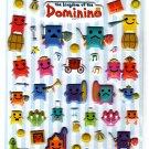 Sun Star Japan The Kingdom of the Dominino Puffy Sticker Sheet Kawaii